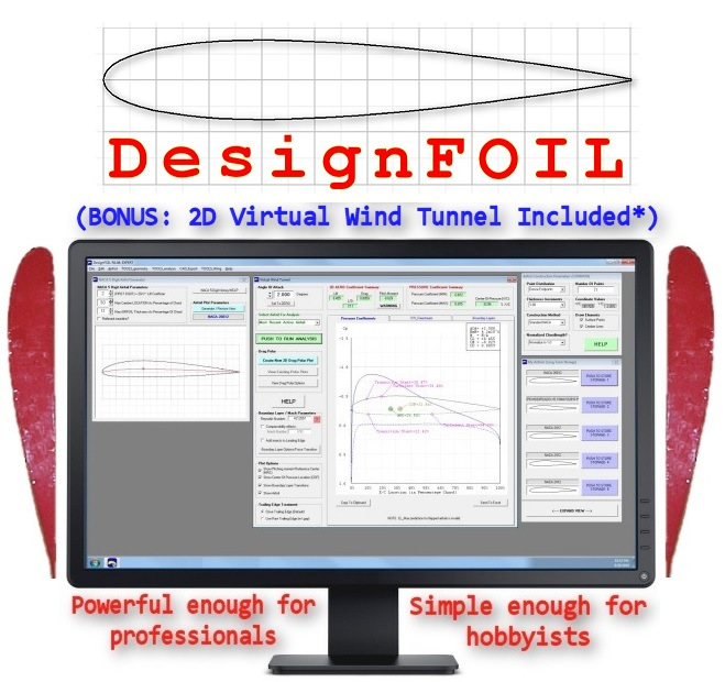 DesignFOIL NACA Airfoil Coordinates And Airfoil Design Software